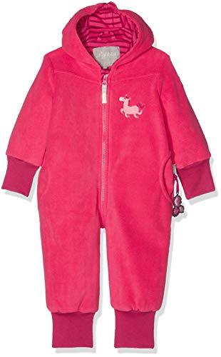Sigikid Mädchen Fleece Overall, Baby Schneeanzug, Rot (Raspberry Sorbet 678), 74