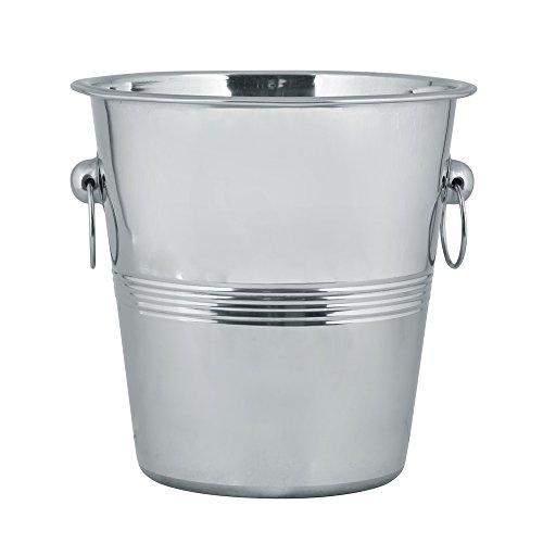 Kosma Edelstahl Champagne Eimer | Flaschenkühler | Ice Bucket Rippenbauweise - 21 x 21 cm -