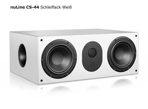 Nubert nuLine CS-44 Center-Lautsprecher 2-Wege (2X 15cm Tieftöner,2.6cm Hochtöner,230/300Watt,41-23000Hz) Stück, Lack Weiß