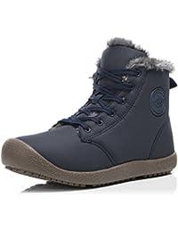 Dannto Botas de Nieve Mujer Hombre Botines Calentar Plano Zapatos de invierno Deportes al aire libre Moda y ocio