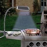 GKA LED Grilllampe mit flexiblen Schwanenhals 9 LED Grillleuchte Leselampe BBQ Smoker Licht Lampe für Grill Grillen