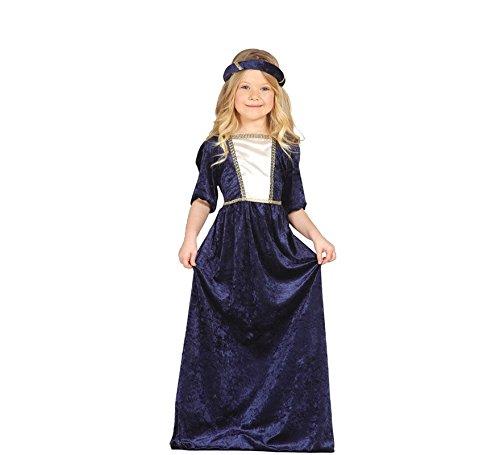 lila Burgfräulein - Kostüm für Mädchen Gr. 98 - 134, Größe:98/104