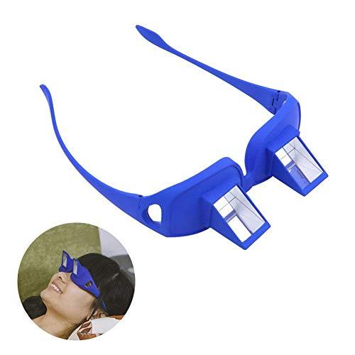 QZY Modernes Funwill Glas Prisma Bett Specs, Die Für Das Lesen und Fernsehen Im Bett Beim Lügen Flachen Periscope Brillen Schauspiels Legen,Blue