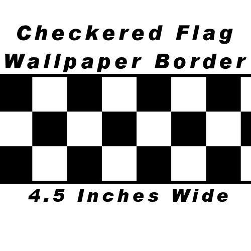 checkered-flag-cars-nascar-wallpaper-border-45-inch-black-edge