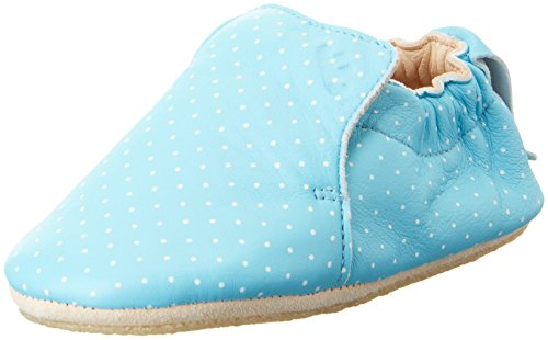 Easy Peasy - Blublu Print, Scarpine e pantofole primi passi Unisex – Bimbi 0-24 Blau (bleu baby plumetis blanc)