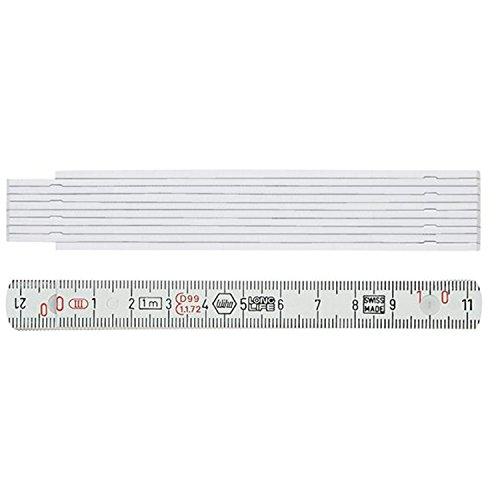 Wiha Gliedermaßstab Longlife® 2 m metrisch, 10 Glieder (27057) weiß