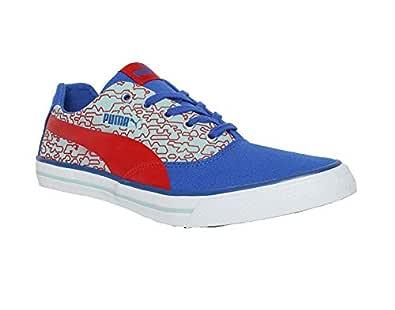 PUMA Men's Hip Hop NM IDP White-Turkish Sea-Ribbon Red-Aquifer Sneakers-6 UK/India (39 EU) (4060979674264)