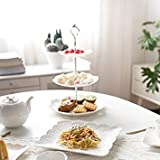 Cake Stand Tableware Pierced Pure White Cake Fruit Stand
