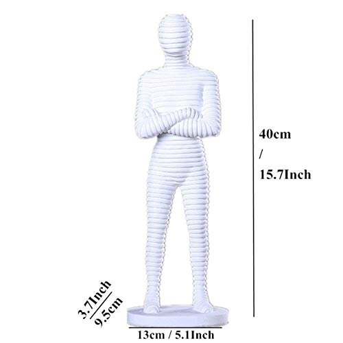 THREE Weißer Sand Stein abstrakt Mann Frau Figur miniaturen kreative Moderne Statue Vintage wohnkultur Dekoration, weißer Mann Figur (Sand Momente, Kostbare)