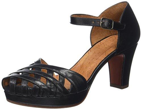 Chie Mihara Irma, Sandales Plateforme Femme Noir (Maitai Negro)