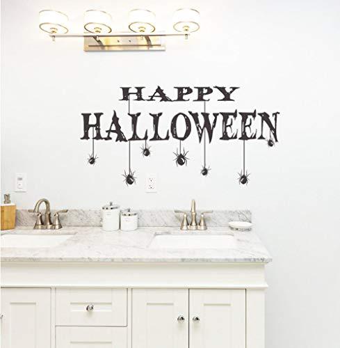Aizaixinli Halloween Party Happy Halloween Wandbild Home Dekorieren Mit Spinne Vinyl Art Wallpaper Aufkleber 71 * 116Cm