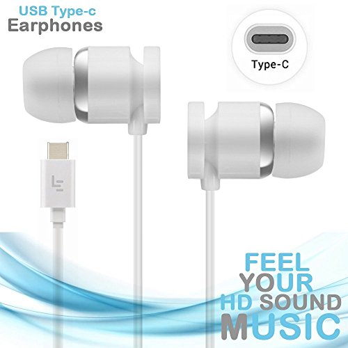 MOBILZA Type-C Plug-in-Ear Earphones,Super Sound Wired Headset Compatible with Smartphones Having Type C Earphone Jack White Image 3