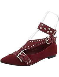 Rot 40 EU ItalDesign Aperte Sulla Caviglia Donna rosso 40 Scarpe 3ia