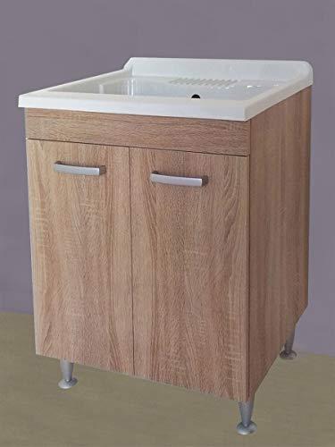 Yellowshop. - mobile lavatoio lavapanni lavanderia e bagno in legno anta ante mobile mobiletto pilozza lavabo armadio varie misure cm 45x50, 50x50, 60x50 e 60x60 altezza 91 (60 x 60 cm)