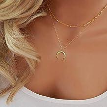 29395cf465c6 Jovono Bohemia Multi - Collar de capa con colgante de doble ángulo para  mujeres y niñas