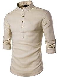 ❤️OHQ Camisa De Blusa De Hombre Polo Top De Camiseta De Costura De Color SóLido Blusa De Manga Corta Talla Extra Tapas Tops…