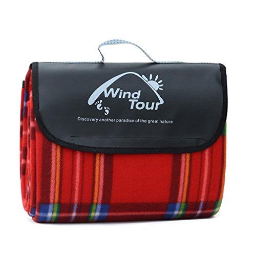 Dickes wasserdichten Outdoor-Picknick-Matte Feuchtigkeit Pad Picknick Matte Camping-Zelt Feuchtigkeit Frühling Bettwäsche Matten groß (Rot)