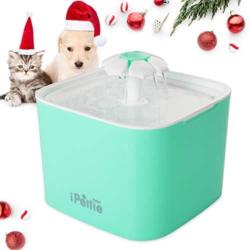 iPettie Neko NS Katzen Trinkbrunnen 2L Automatischer mit Super Ruhiger Pumpe und Austauschbarem Filter, Super Leise Automatischer Elektrischer Wasserspender für Katzen und Hunde (Minzgrün)