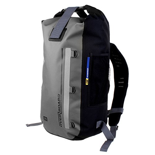 OverBoard Classic 100% wasserdichter Rucksack Dry Bag M grau Zu Hause Patch-panel