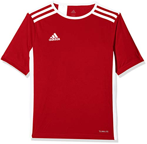 Adidas entrada 18 jsy teamtrikot, t-shirt bambino, rosso (power red/white), 11-12 anni