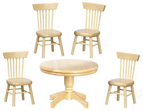 dolls-house-miniature-112th-scale-oak-table-set