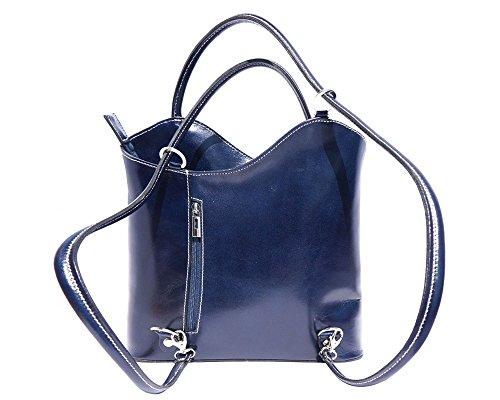 Florence Leather zaino borsa, Black & Brown (multicolore) - 207 Dark Blue
