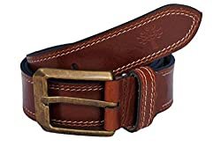 Woodland Men Leather Belt (WoodLand_BT-1039041-TAN-38)