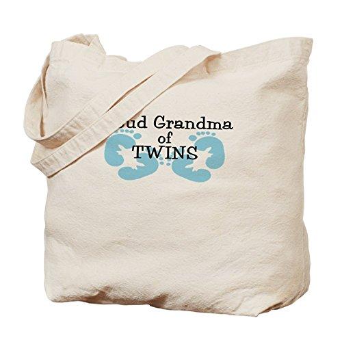 Grandma Twin Jungen–Leinwand Natur Tasche, Reinigungstuch Einkaufstasche (Baby Boy Ankündigungen)