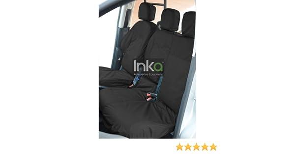DOUBLE PASSENGER SEATS CITROEN BERLINGO 1.6 HDi Enterprise 2+1 BLACK WITH BLUE PIPING VAN SEAT COVERS DRIVER