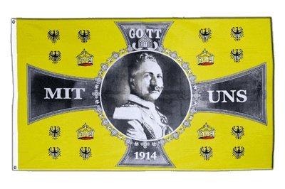Flagge Deutsches Reich Kaiser Wilhelm 1914 Gott mit uns - 90 x 150 cm