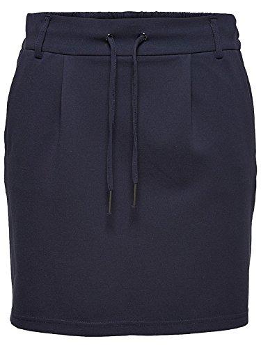 ONLY NOS Damen Onlpoptrash Easy Skirt PNT Noos Rock, Blau (Night Sky), 34 (Herstellergröße: XS)