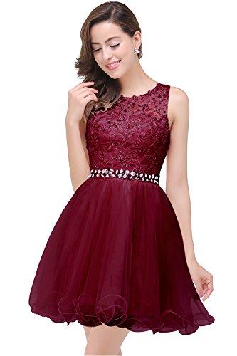 Damen Tüll Prinzessin Spitze Abendkleider Festlich Tüllkleid Kurz - Prinzessin Kleider Für Teenager