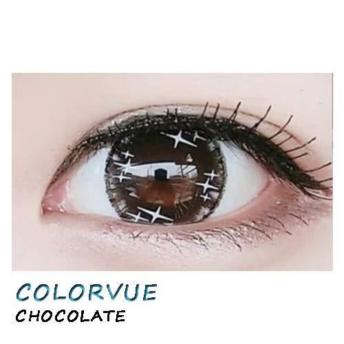 weiche Farblinsen Kontaktlinsen farbig + Behälter 1 Paar (2 Stück) ohne Stärke I 0.00 Dioptrien COLORVUE CHOCOLATE
