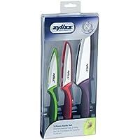 Zyliss ZE72404 Set de 3 couteaux colorés : Office, Universel et Chef