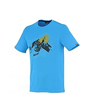 Millet - Tee-shirt Base Camp Ts Ss Electric Blue Homme - Homme - Taille xxl - Bleu