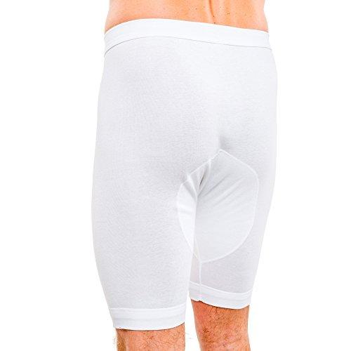 HERMKO 3980 2er Pack Herren Longpant mit Eingriff, hoher Leib Weiß