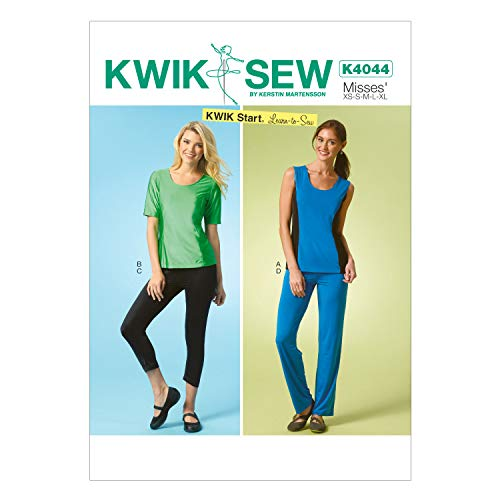 KWIK-SEW PATTERNS englisches Schnittmuster KwikSew 4044 Top, Leggins XS-XL