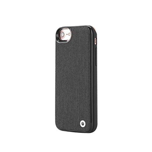 DITONG IPhone 6 / 6S / 7 / 8 / X Akku Case 2800 mAh Smart Batterie Hülle Backup Externes Akku-Ladegerät Ultradünne Power Bank Fall Wiederaufladbare Backup Externer Power Case Ladegerät Schutzhülle Schutzkoffer mit 4 LED-Leuchten (Schwarz & 4.7-Inch) (Batterie-ladegerät-fall Für Iphone 4)