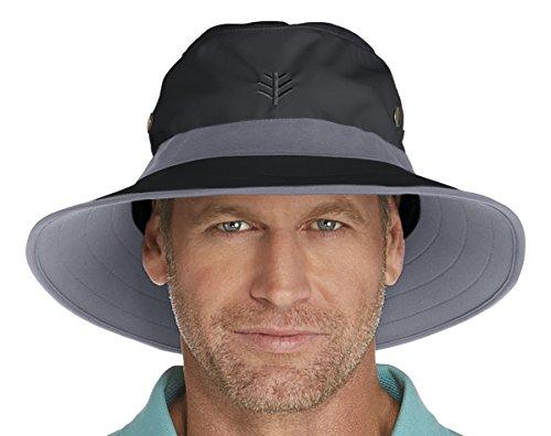 Coolibar Herren UV-Schutz Hut, Schwarz, S/M (57CM)