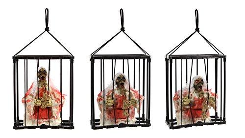 Gefangener Geist, animiert, HxBxT: 28x23x10cm, mit rot blinkenden Augen, Bewegung und Sound, mit Soundsensor, für 3AA Batterien, nicht enthalten, Polyester/Polyresin, !!ACHTUNG: Stückpreis!!Bild zeigt Bewegungsablauf (Animierte Geist Bilder)