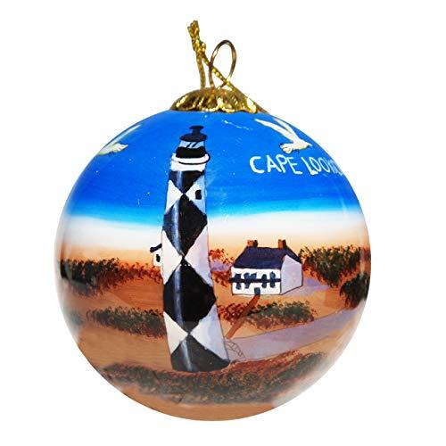 Unbekannt Art Studio Company Handbemalt Glas Weihnachten Ornament-Cape Lookout Leuchtturm -
