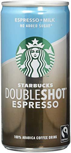 Starbucks DoubleShot Espresso no added sugar, (12 x 200 ml) – Erfrischendes Kaffee Kaltgetränk...
