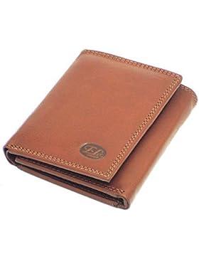 Europeo Cuero Quality Plegado triple Pequeño Billetera De Cuero Suave Tarjetas De Crédito - talla: 102(h) x 83...