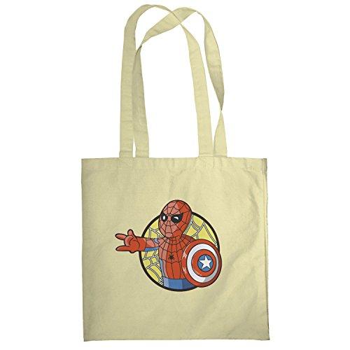 Texlab–Spider Boy–sacchetto di stoffa Naturale