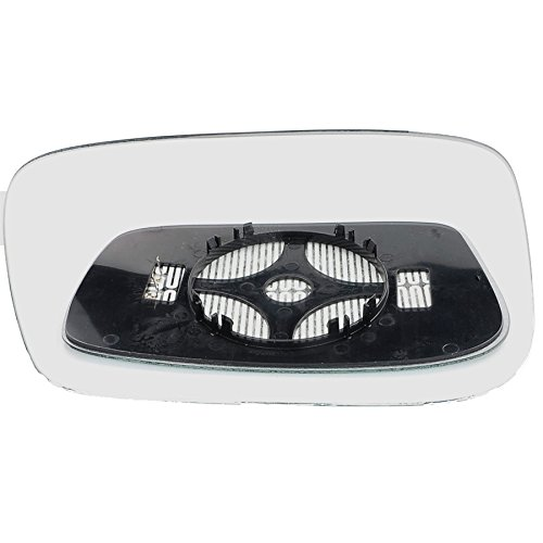 Passenger left hand side Heated wing door Silver mirror glass with backing plate #C-SHY//L-BWE8710 Clip On