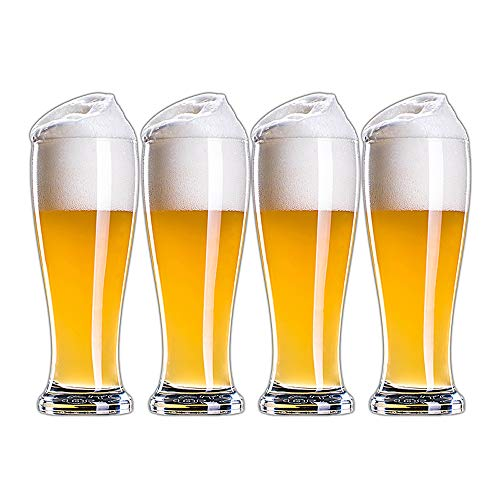 Jarra de Cerveza de Cristal sin Plomo, Jarra de Cerveza Creativa Engrosada | Cervezas clásicas, Jarras de Cerveza, Grandes como un Regalo de Cerveza - 4 Piezas