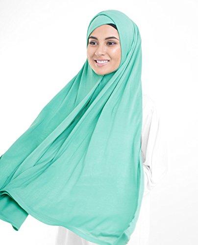 InEssence, Kopftuch / Schal / Hidschab, aus Jersey-Stoff, für Damen Gr. M, Aqua Green Turquoise - 2