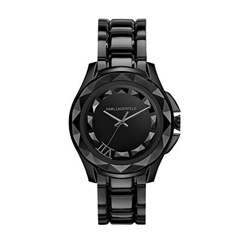 Karl Lagerfeld KL1001 - Reloj con correa de metal, para mujer, color negro