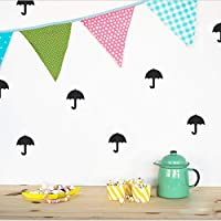Home Wall Stickers Umbrella Pattern Wall Stickers Little DIY Wall Decals Kids Children Room Decoration