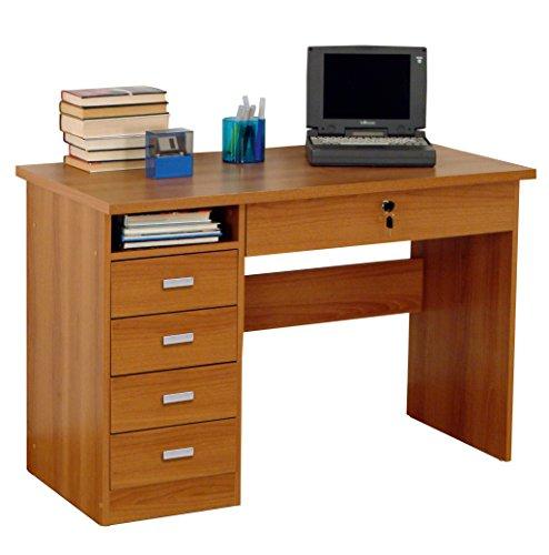 Tosend servizi sas scrivania eco con 4 cassetti colore noce altezza cm 73 larghezza cm 117 profondità cm 52 - cassetto centrale con chiave